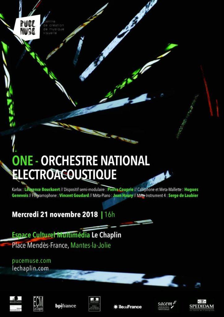 Affiche concert ONE à l'ECM Le CHaplin
